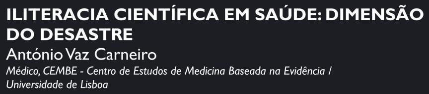 Palestra - António Vaz Carneiro