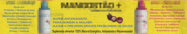 Um anúncio num jornal diário a um suplemento alimentar.